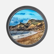 Coastline Cliffs Wall Clock
