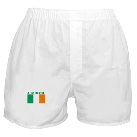 Cork, Ireland Flag Boxer Shorts