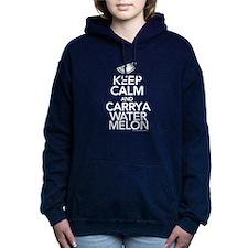 Keep Calm Watermelon Women's Hooded Sweatshirt