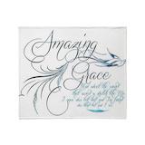 Amazing grace Fleece Blankets