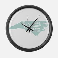 North Carolina Large Wall Clock