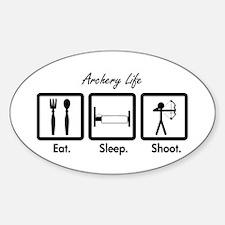 Eat. Sleep. Shoot. (Compound) Sticker (Oval)