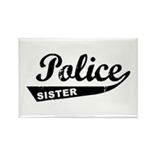 Vintage Police Sister Rectangle Magnet