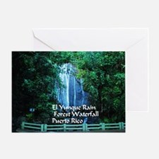 El Yunque waterfall Greeting Card