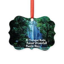 El Yunque waterfall Ornament