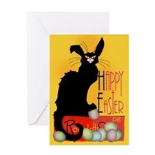 Le Chat Noir - Easter 2 Greeting Cards