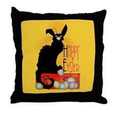 Le Chat Noir - Easter 2 Throw Pillow