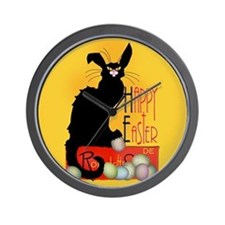 Le Chat Noir - Easter 2 Wall Clock