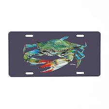 Blue Crab Aluminum Aluminum License Plate