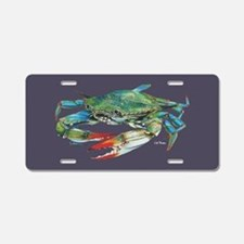 Blue Crab Aluminum Aluminum License Plate