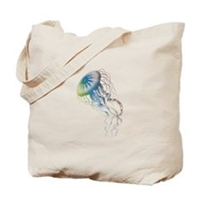 colorful jellyfish Tote Bag