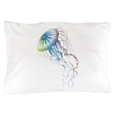 colorful jellyfish Pillow Case