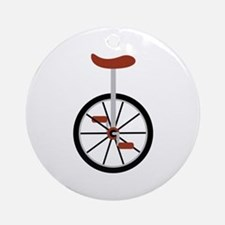 Red Unicycle Ornament (Round)