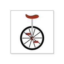 Red Unicycle Sticker