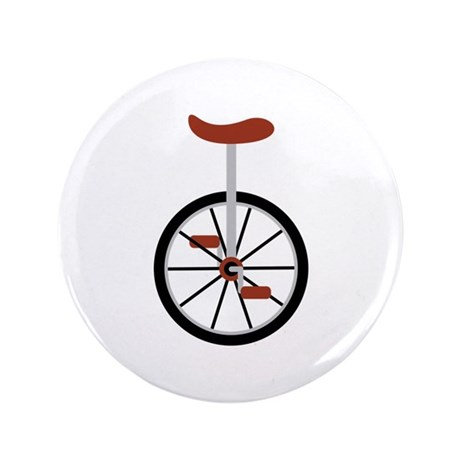 """Red Unicycle 3.5"""" Button (100 pack)"""