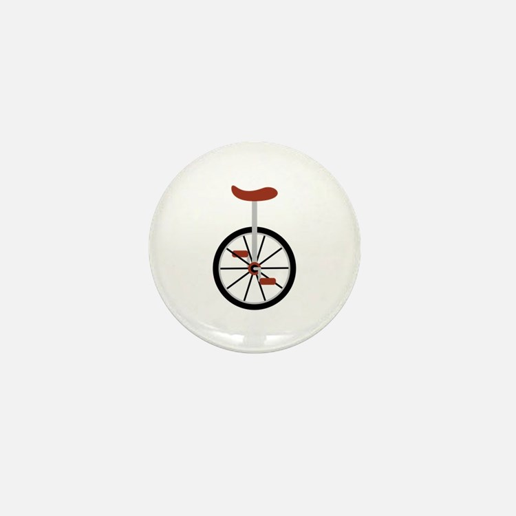 Red Unicycle Mini Button