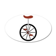 Red Unicycle Wall Decal