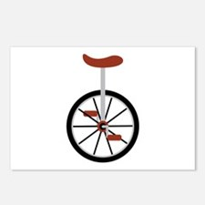Red Unicycle Postcards (Package of 8)