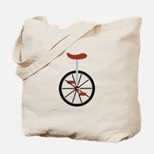 Red Unicycle Tote Bag