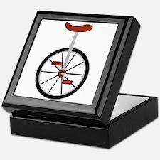 Red Unicycle Keepsake Box