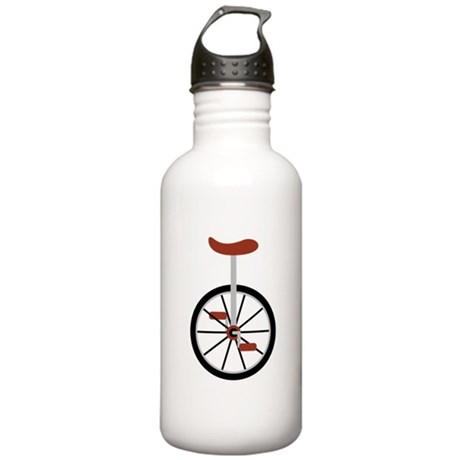 Red Unicycle Water Bottle