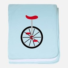Red Unicycle baby blanket