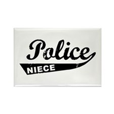 Vintage Police Niece Rectangle Magnet