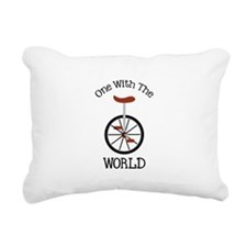 One With The World Rectangular Canvas Pillow