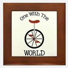 One With The World Framed Tile
