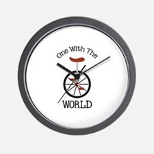 One With The World Wall Clock