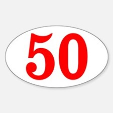 RED #50 Decal
