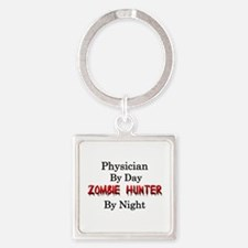 Physician/Zombie Hunter Square Keychain