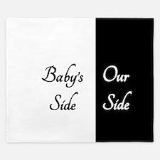 The Babys Side Our Side King Duvet