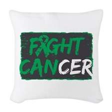 Fight Liver Cancer Woven Throw Pillow