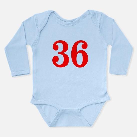 RED #36 Long Sleeve Infant Bodysuit