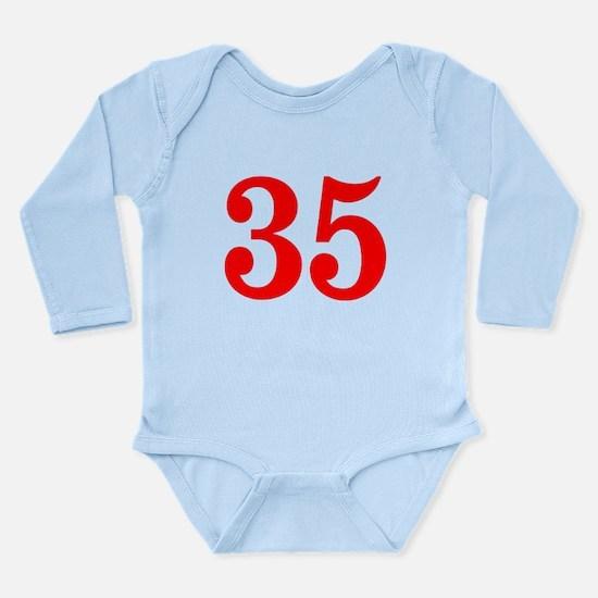 RED #35 Long Sleeve Infant Bodysuit