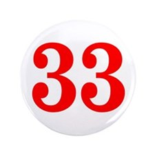 """RED #33 3.5"""" Button"""