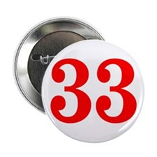 """RED #33 2.25"""" Button"""