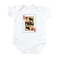 Queen Schipperke Infant Bodysuit