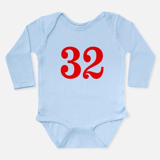 RED #32 Long Sleeve Infant Bodysuit