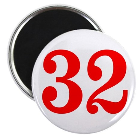 RED #32 Magnet