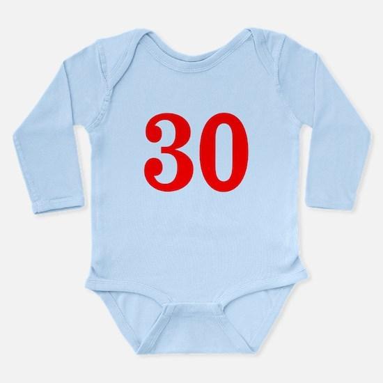 RED #30 Long Sleeve Infant Bodysuit