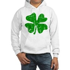 Green distressed shamrock Hoodie