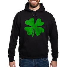 Green distressed shamrock Hoodie