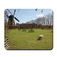 Windmill with sheeps Mousepad