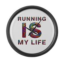 Top Running Life Large Wall Clock