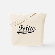 Vintage Police Daughter Tote Bag