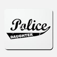 Vintage Police Daughter Mousepad