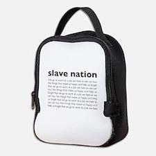 slave nation Neoprene Lunch Bag