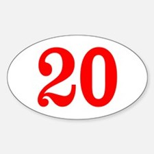 RED #20 Sticker (Oval)
